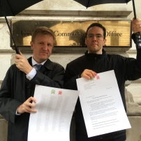 My MP and I delivering 219 MPs letter